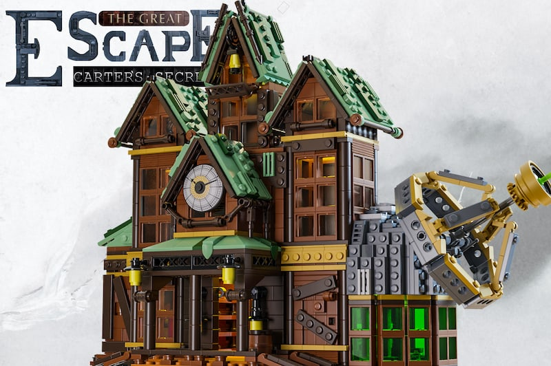 The Great Escape Carter's Secret promo image, depicts the the mansion with it's observatory off to the side.
