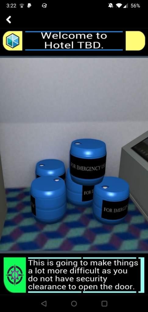 Emergency equipment screne.