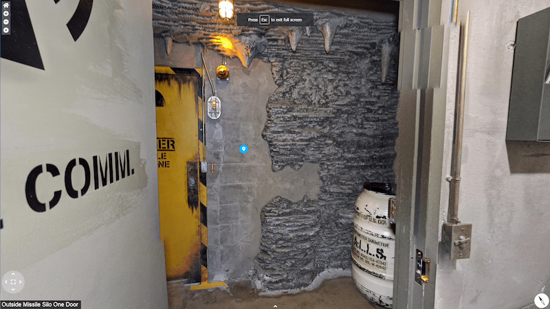 Walls of stone and steel in a bunker.