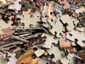Closeup of the jumbled pieces.