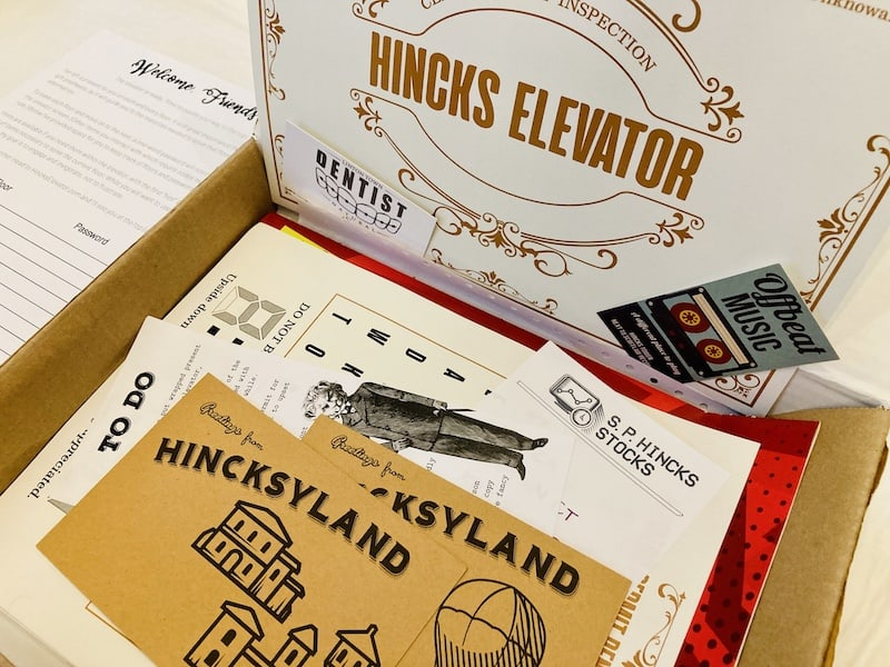 Initial opening of the box shows a wide variety of paper components.
