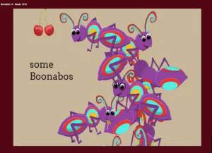 A collection of adoable and colorful cartooish bugs called Boonabos.