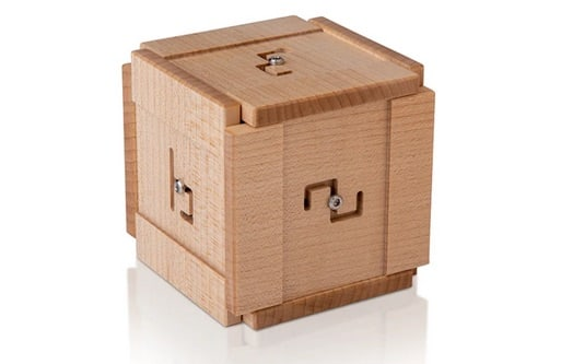 Wooden Rune Cube puzzle box.