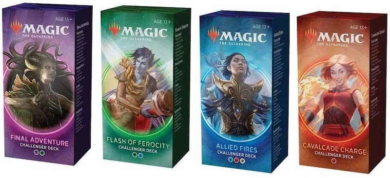 4 different magic challenger deck boxes.