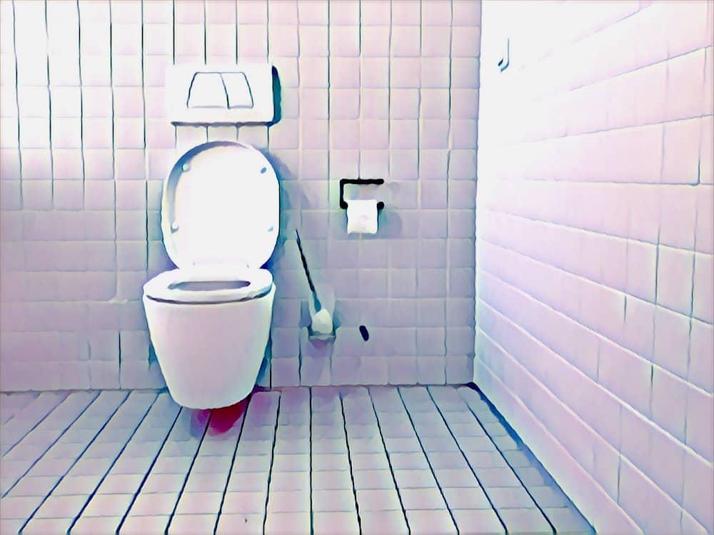 A very white bathroom.