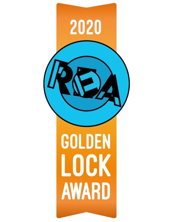 2020 Golden Lock Award Ribbon