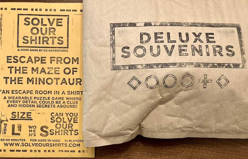 Solve Our Shirts packaging.