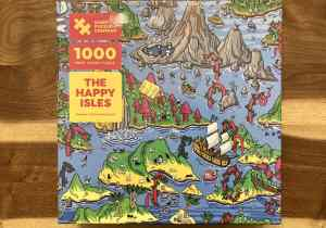 Box art for The Magic Puzzle Company's The Happy Isles 1000 piece jigsaw puzzle.
