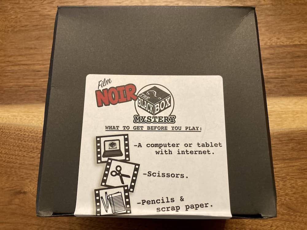 Film Noir Black Box Mystery box.