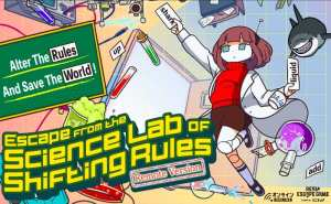 """Promo art shows a chaotic lab with a shark and the words, """"Alter the rules and save the world!""""Alter"""