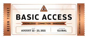 Bronze RECON Basic Access ticket - date: August 22-23, 2021.