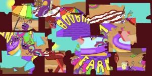 Digital Boobano Farm jigsaw puzzle scrambled.