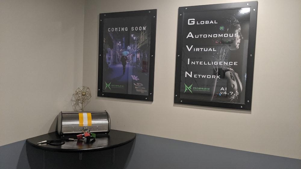 Advertisements for GAVIN: the Global Autonomous Virtual Intelligence Network.