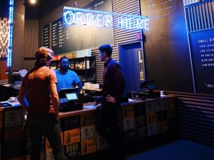 Night Shift Brewing order station.