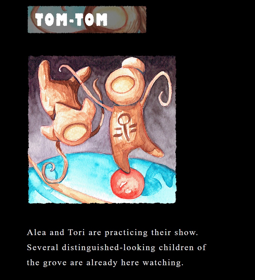 Water color of an unusual character named Tom-Tom