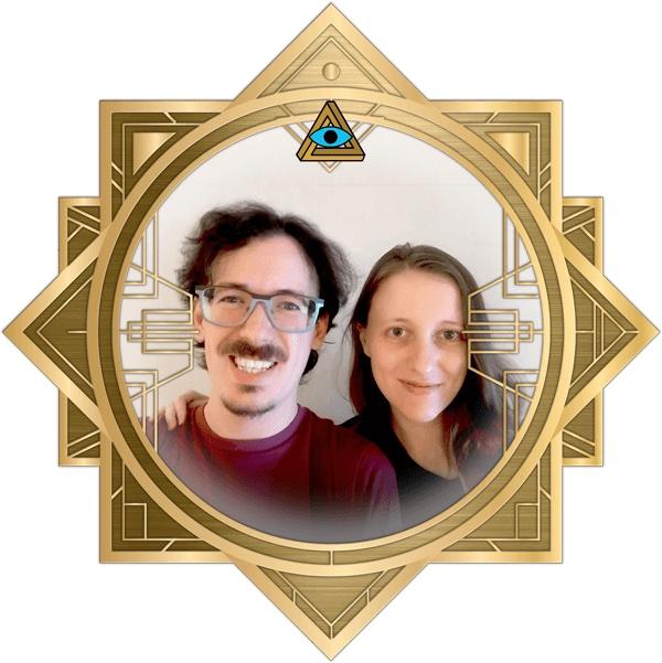 Dani & Bill in the art deco RECON frame.