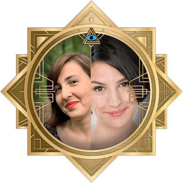 Rita & Summer in the art deco RECON frame.