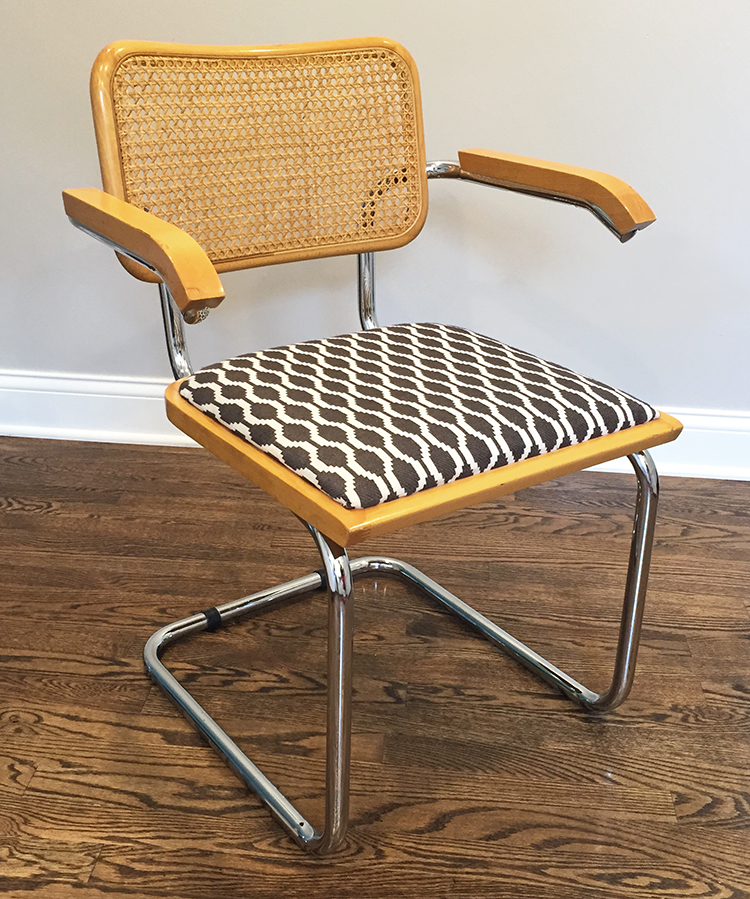 Breuer Chair Update Upholstery Diy Room For Tuesday