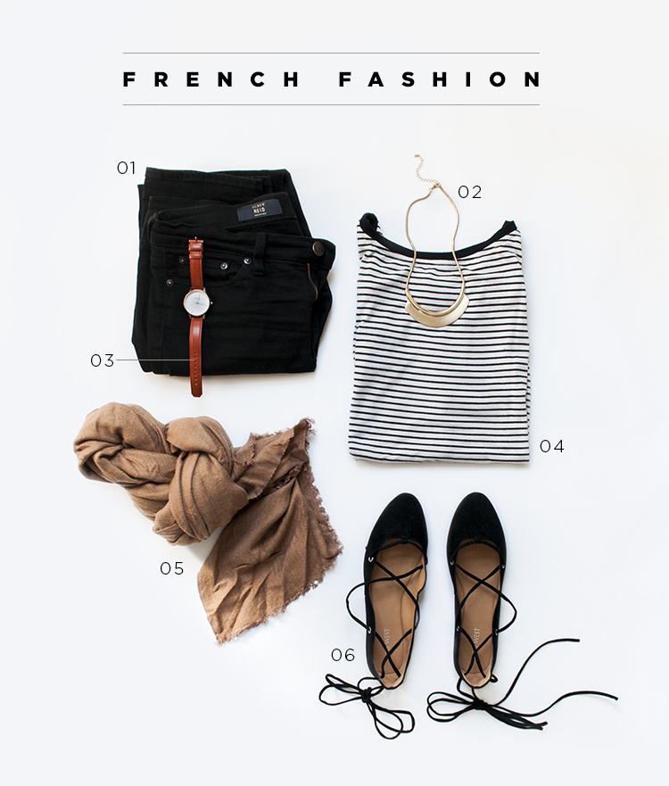 French Black and White Fashion