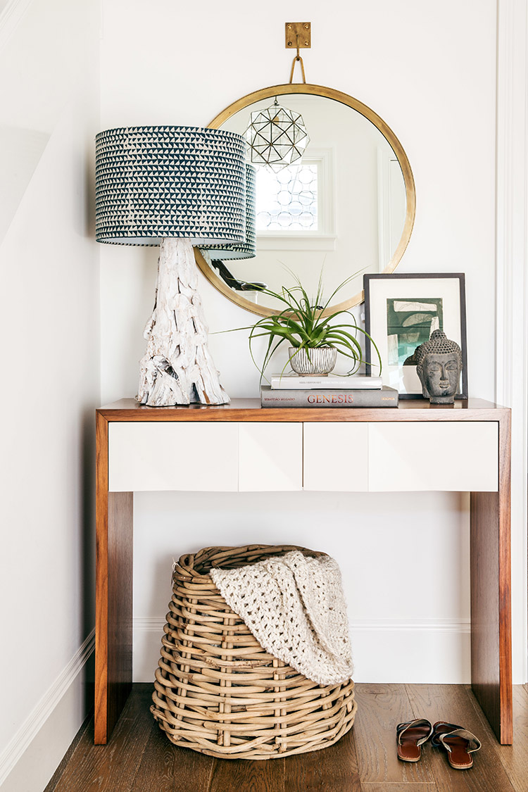 Basket in Entryway