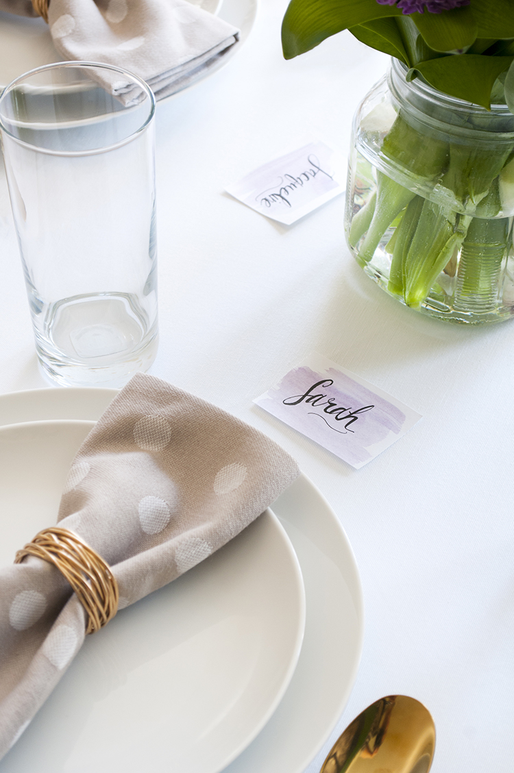 DIY Watercolor Place Card
