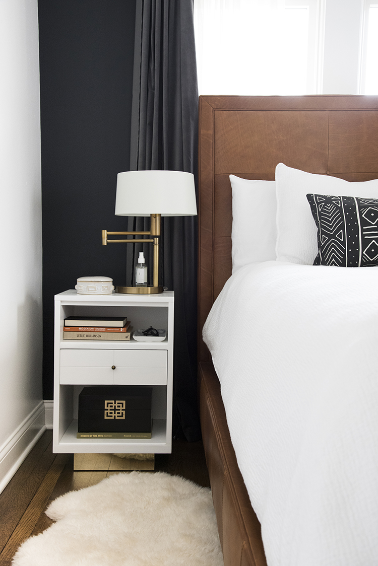 Black and Cognac Bedroom