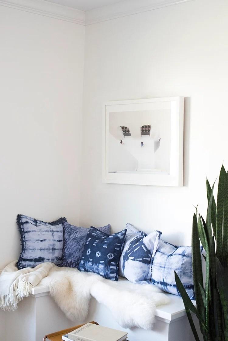 Shibori Pillow Corner Nook