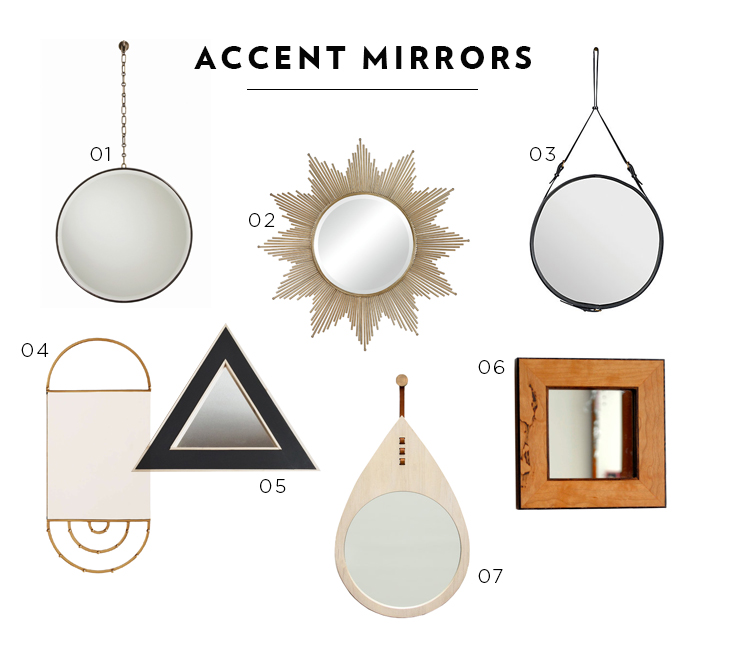 accent mirrors