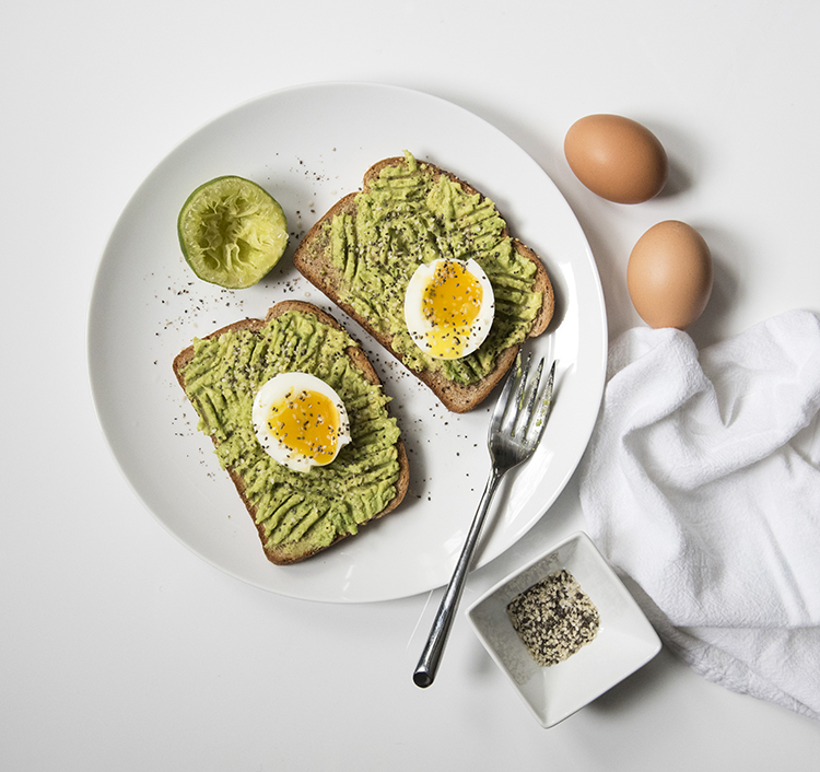 avocado egg toast breakfast