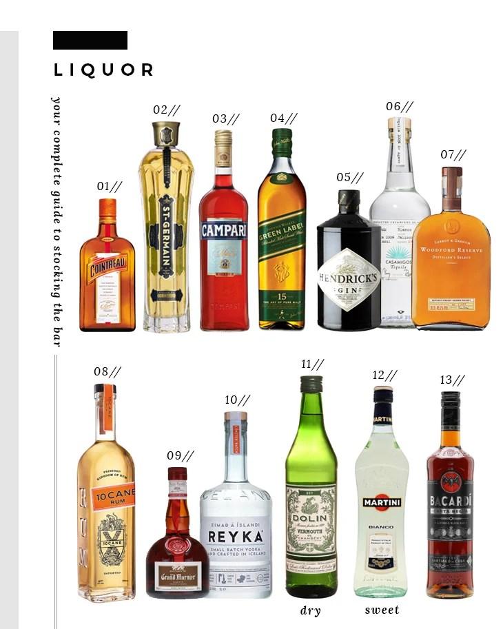 Bar Essentials - Liquor