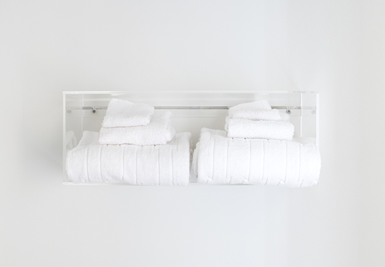 Lucite Floating Towel Rack