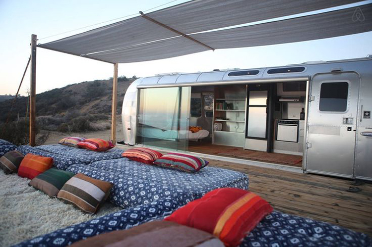 Malibu Airstream Under the Stars
