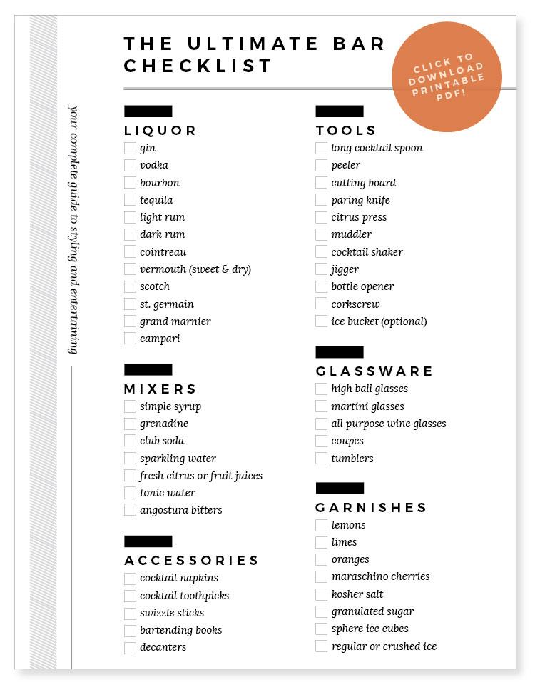 Ultimate-Bar-Cart-Checklist