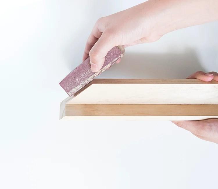 DIY Wood Frame Sanding