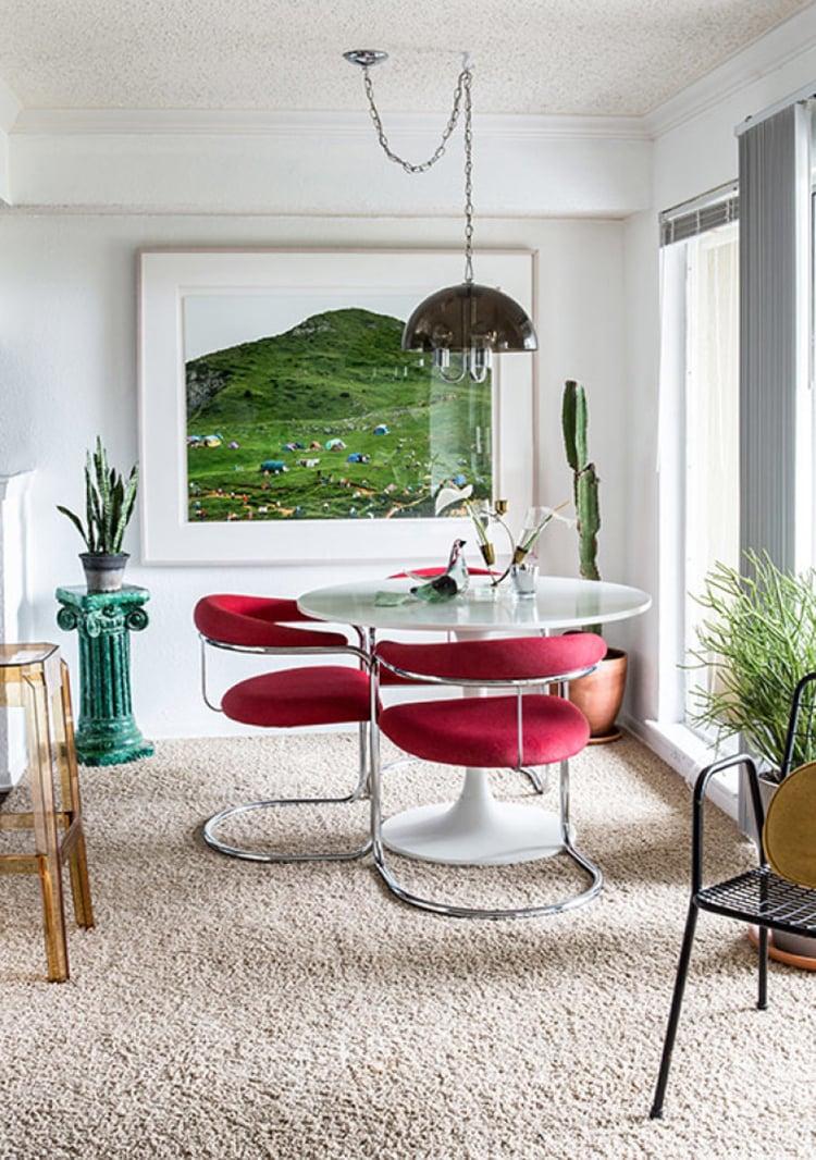 Tiny Bold Dining Room