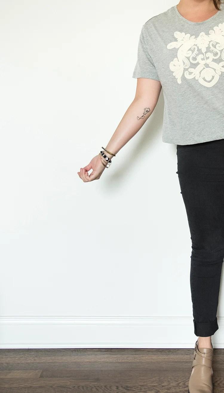 Countour Line Tattoo