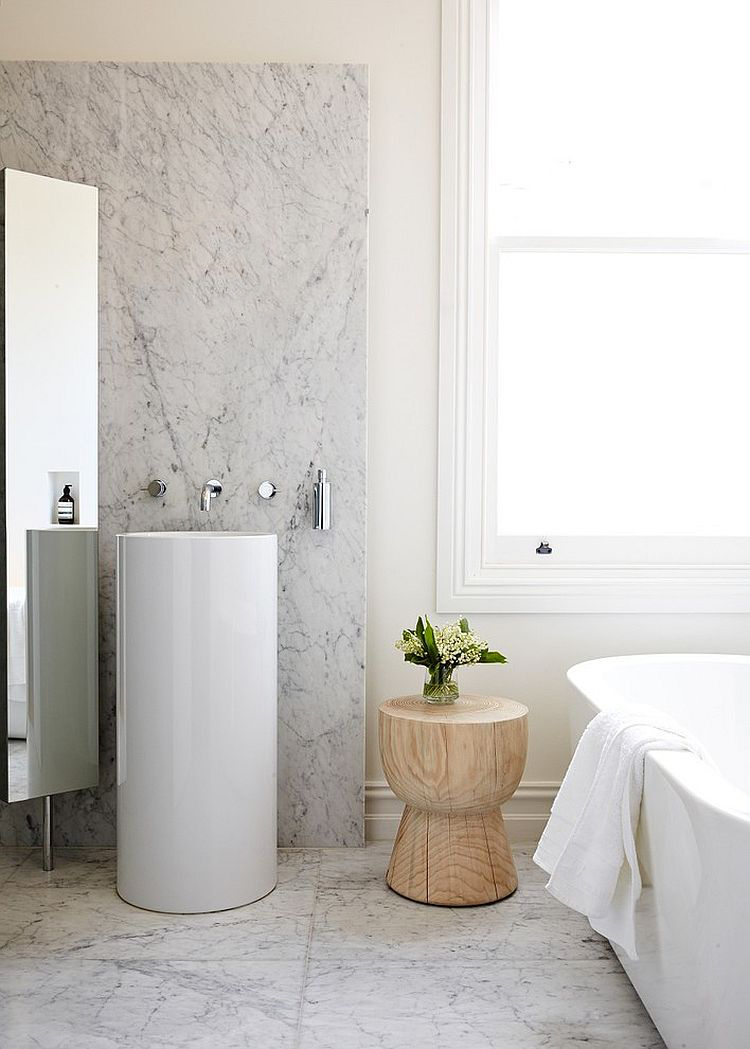 Small Side Table in Bathroom