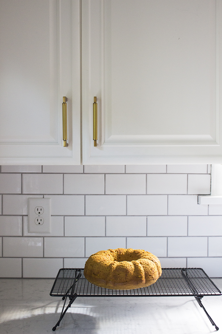 pumpkin spice bread cooling rack