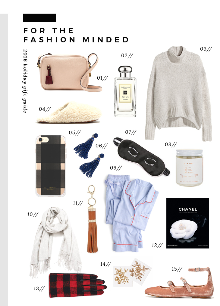 gift guide for the fashion minded