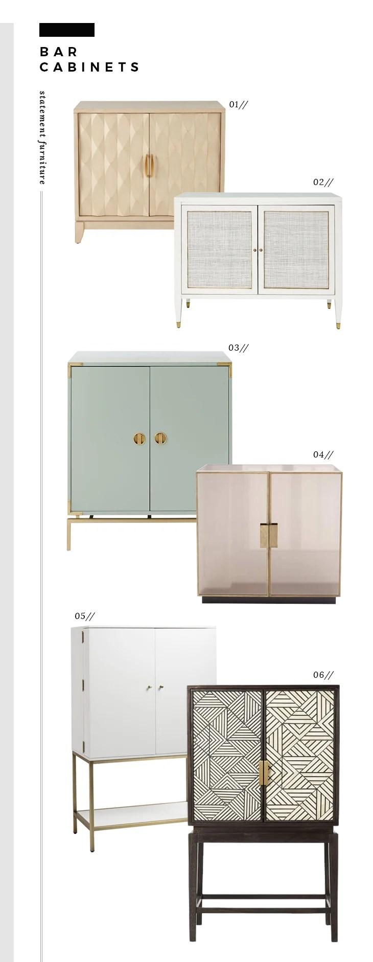 Superbe 01: Gretchen Bar Cabinet // 02: Chic Bar Cabinet // 03: Aqua Bar Cabinet //  04: Mirrored Bar Cabinet // 05: White Lacquer Bar Cabinet // 06: Bone  Inlaid ...