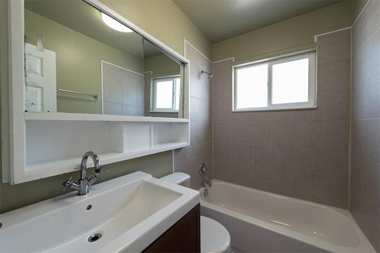 BEFORE tiny bathroom