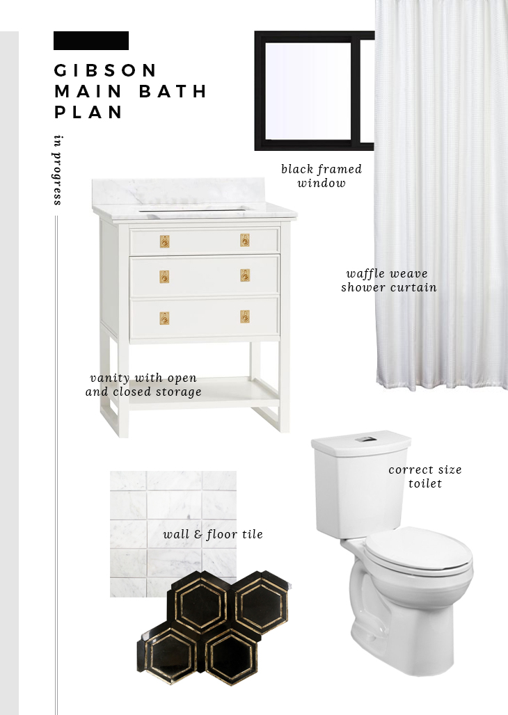 Gibson Main Bath Plan