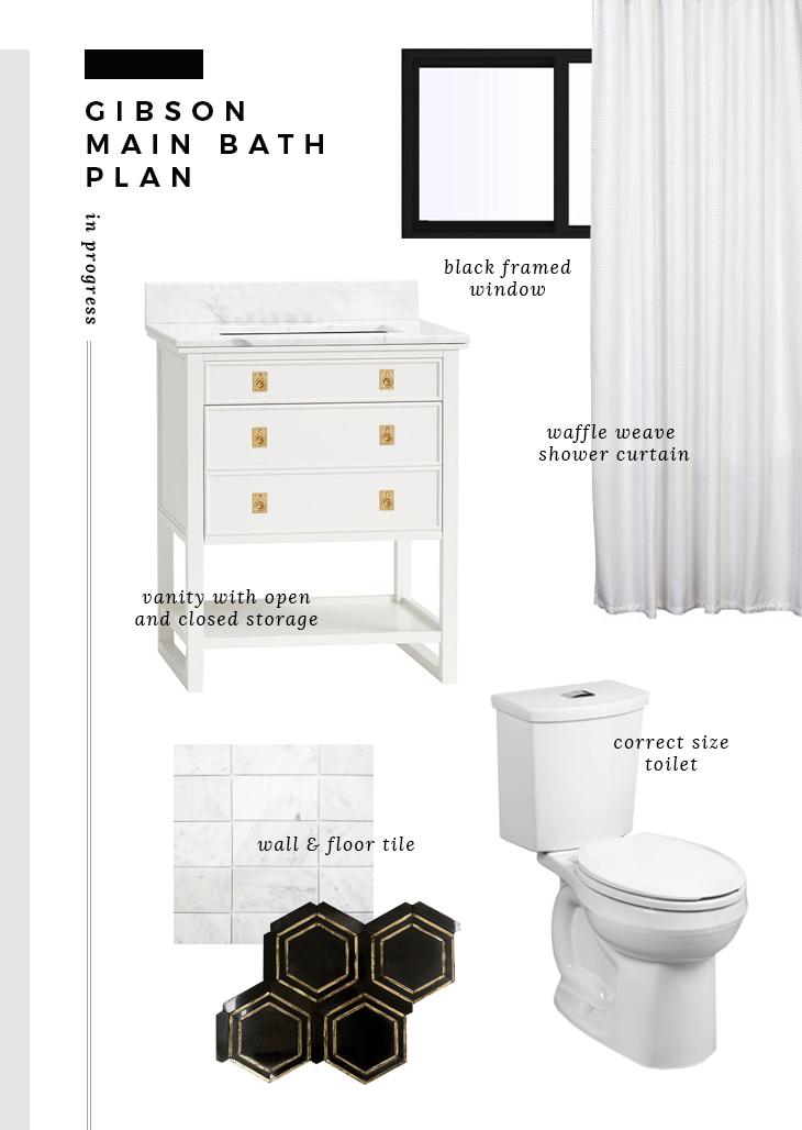 Gibson Main Bath Plan