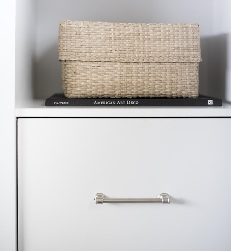 Closet with Custom Hardware
