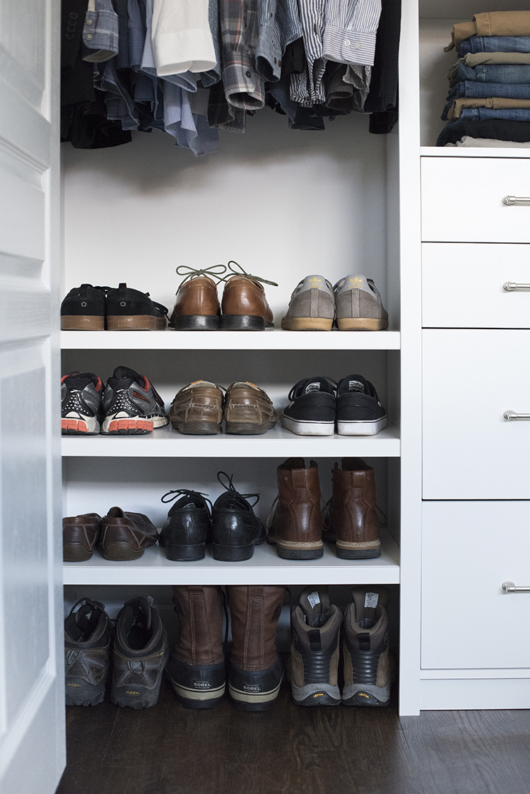 Custom Shoe Storage for Him