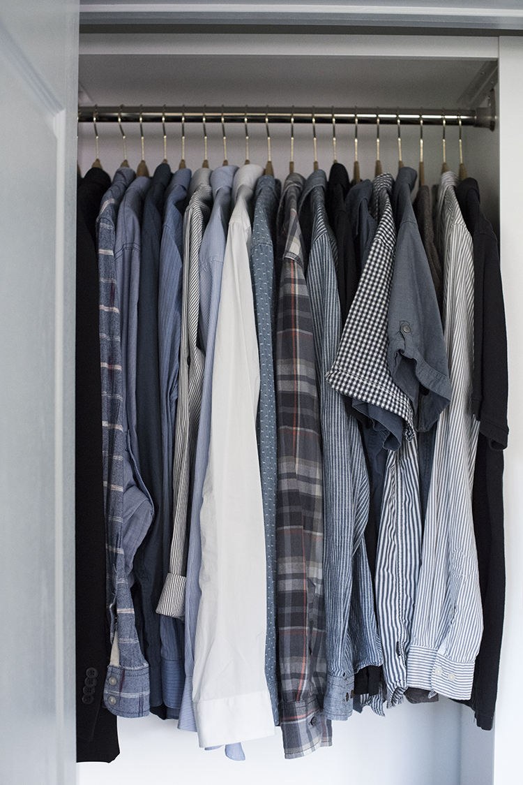 Hanging Space in Mens Closet