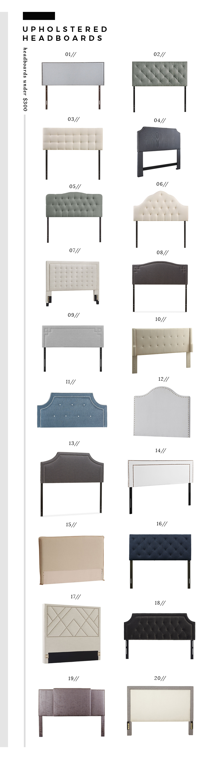 upholstered headboards under $300