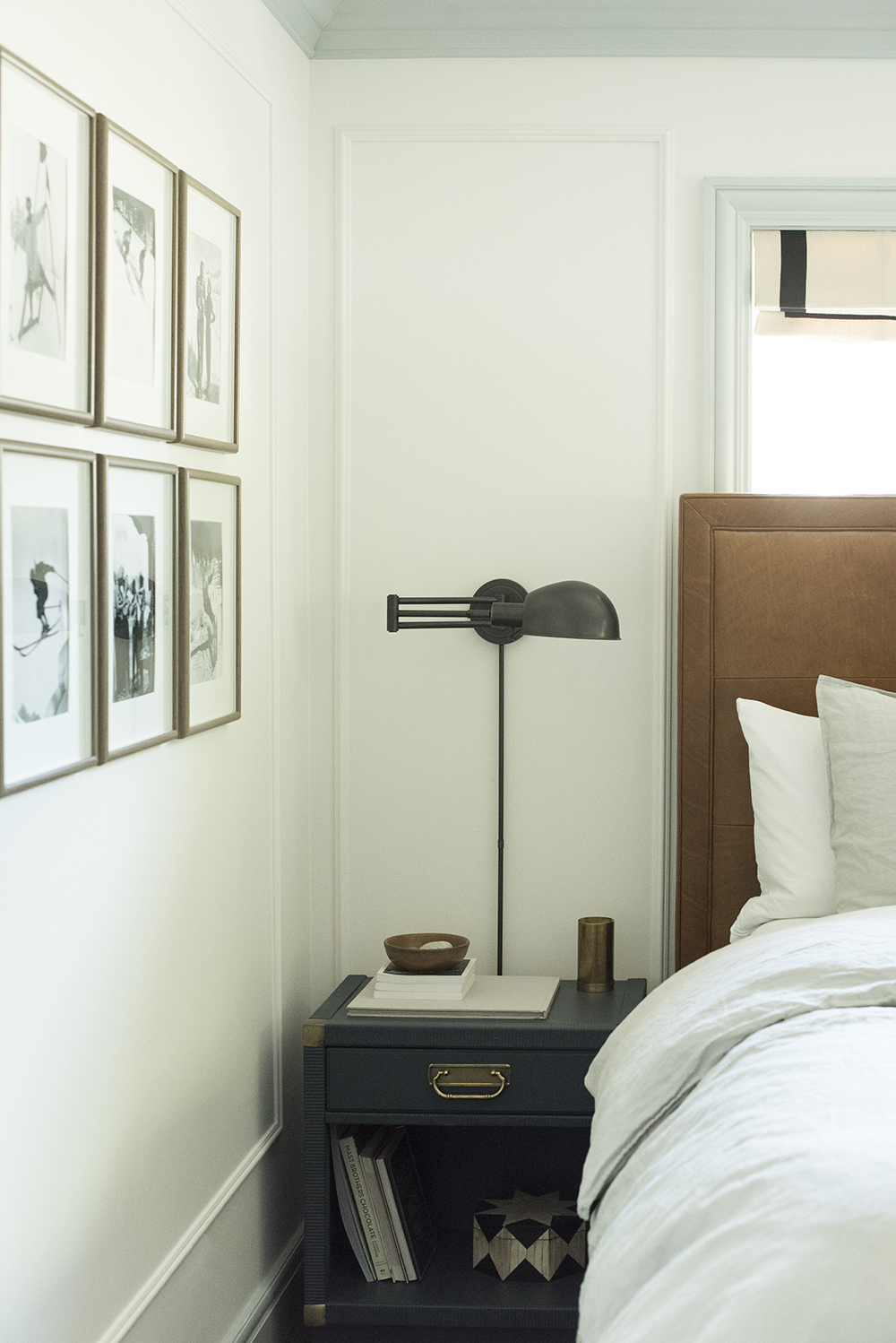 Bedside Table and Sconce