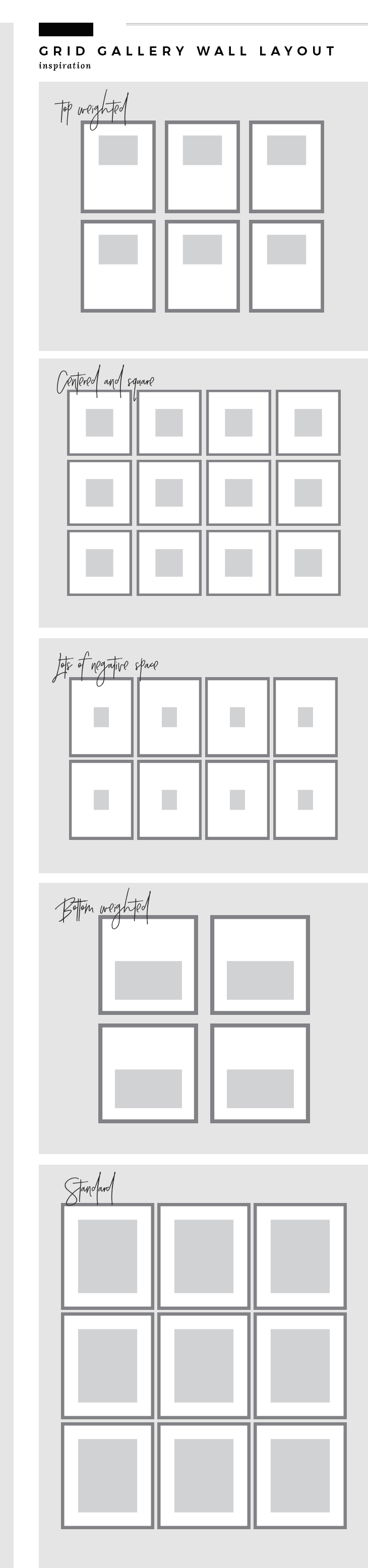 Grid Gallery Wall Layouts