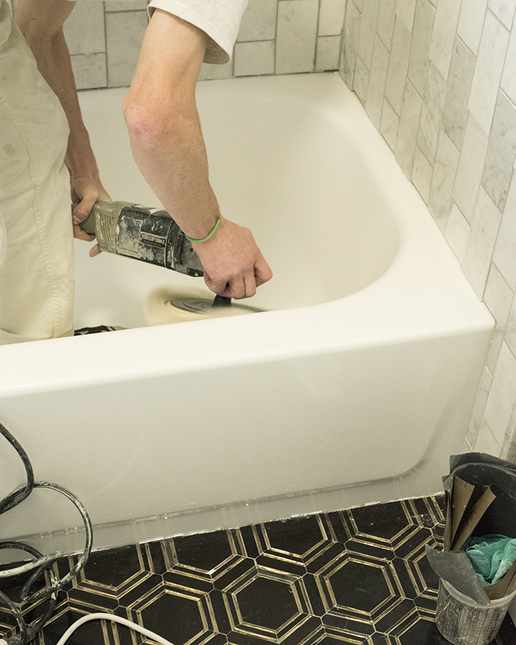 Resurfacing a Bathtub